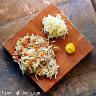 Easy sauerkraut latkes are gluten free and delicious