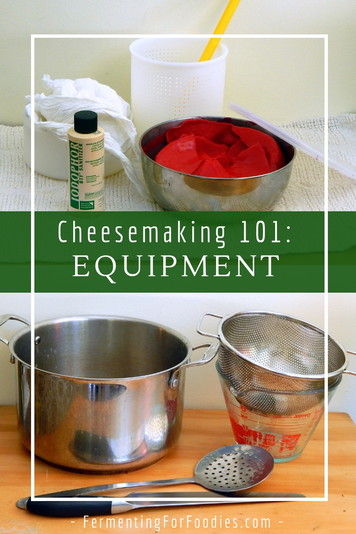 Specialty equipment for making cheese at home