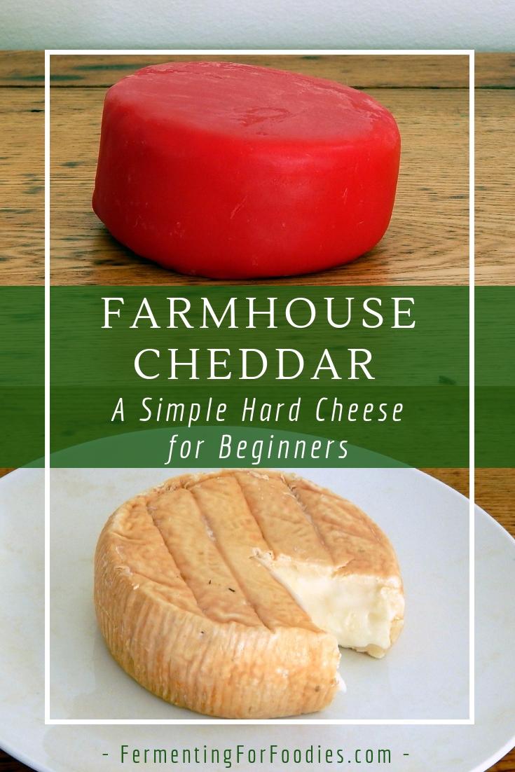 Homemade Hard Cheese - Farmhouse cheddar