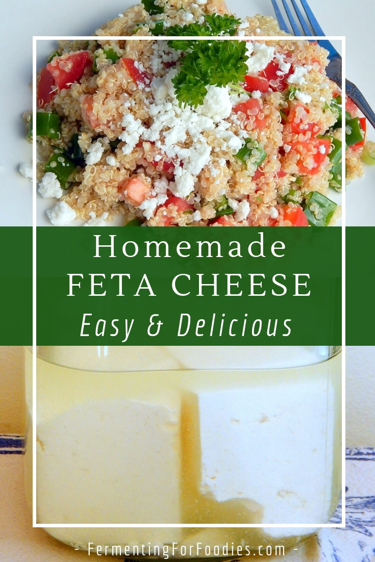 Simple and traditional feta cheese - pressed and in a brine