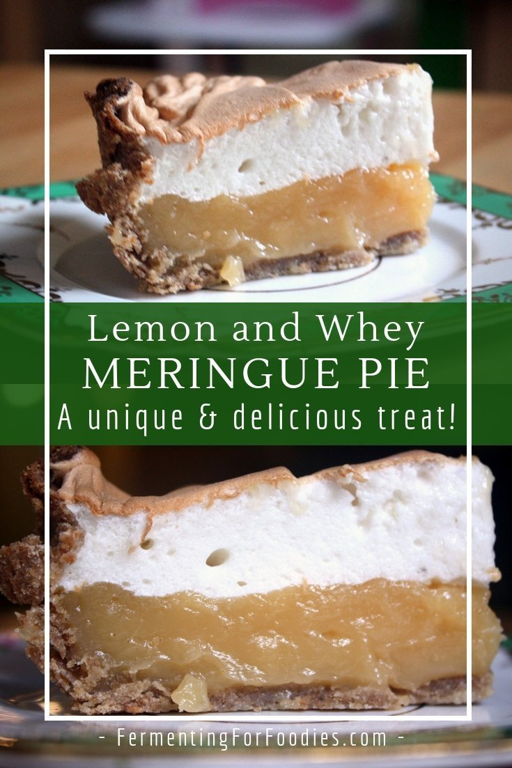 Lemon and whey meringue pie - a sweet treat.