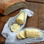 It's easy to make homemade cultured butter. Flavour it with herbs and garlic for a burst of flavour