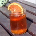 Probiotic health tonic in a mason jar.