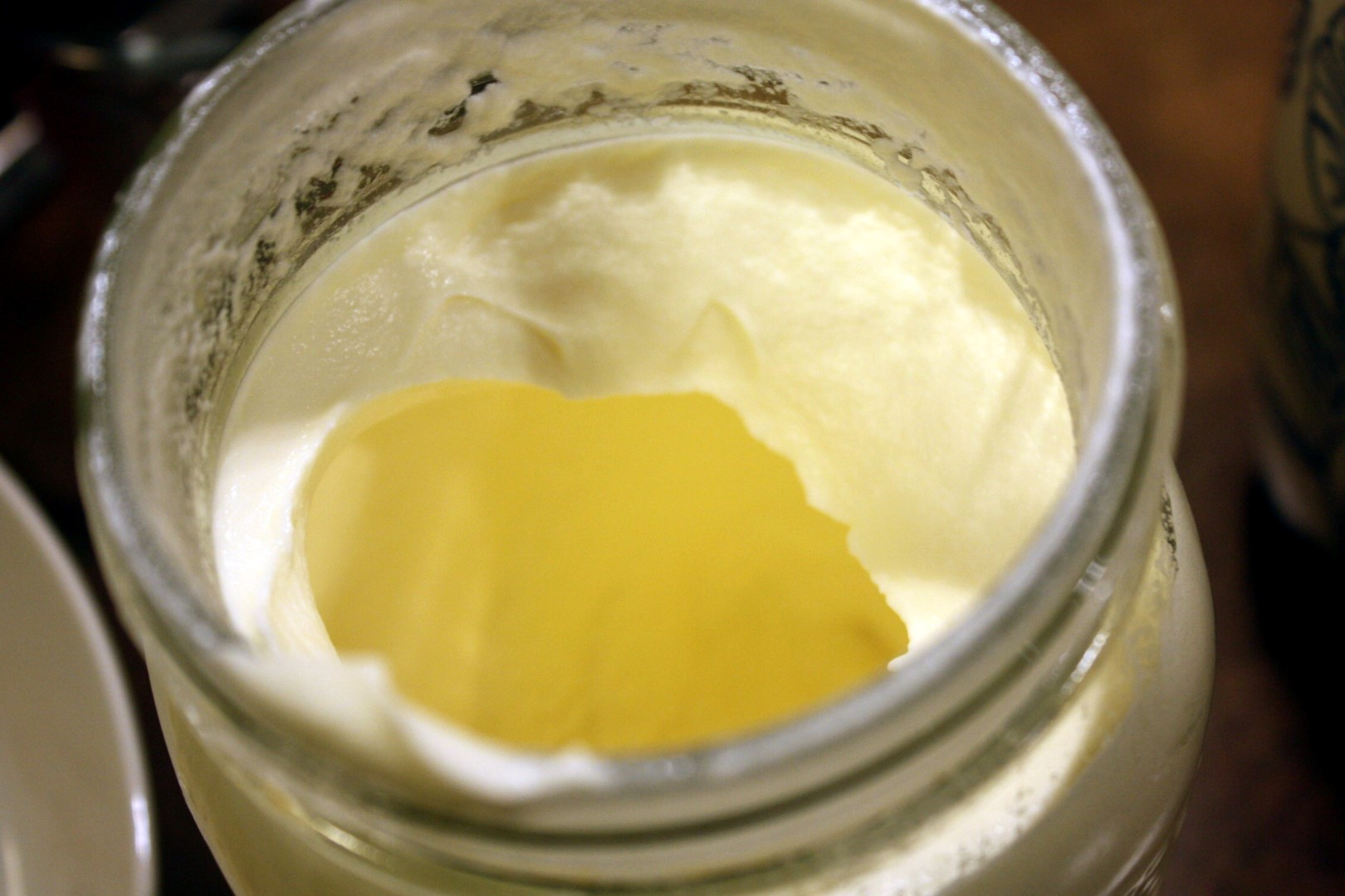 Cream whipped in a jar.
