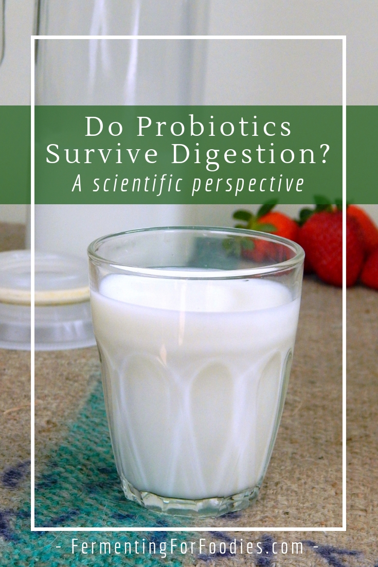 Do probiotics survive digestion. The science behind probiotics.
