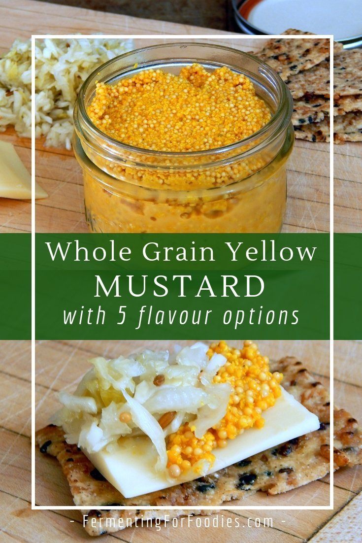 Whole grain fermented mustard, hot mild, grainy or smooth