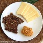 Four types of fruit mustard- apple mustard, apricot mustard, plum mustard and blueberry mustard