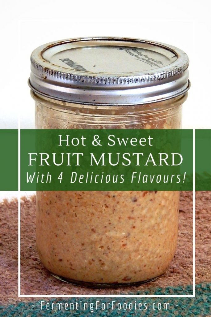Fruit mustard is delicious with cheese, in a sandwich or with meat. Naturally gluten-free and vegan