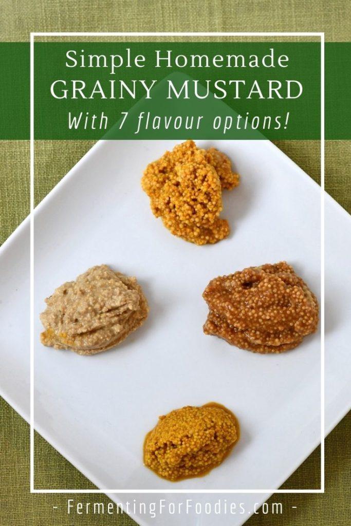 Simple homemade mustard - Five minute recipe!