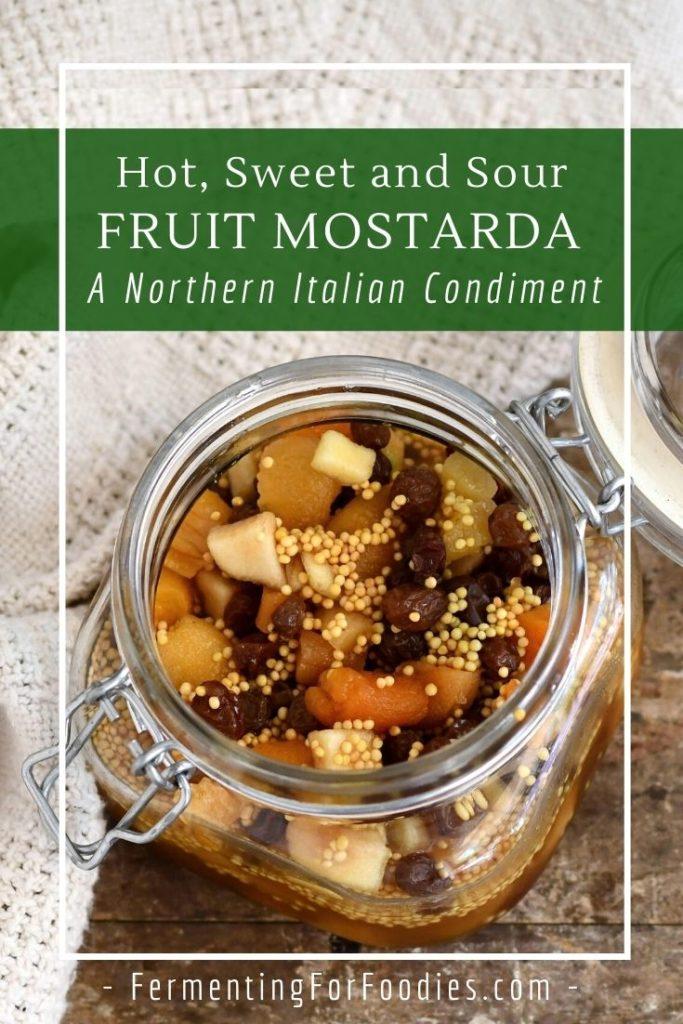 How to serve homemade mostarda.