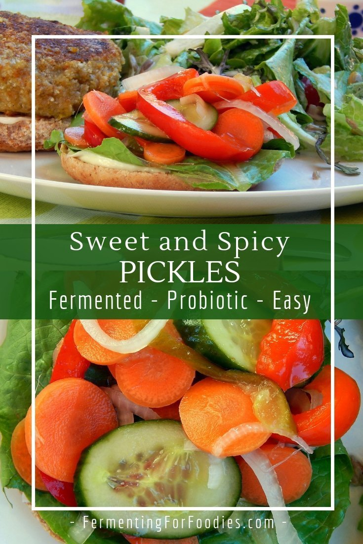 Mixed vegetable fermented sweet and spicy pickles