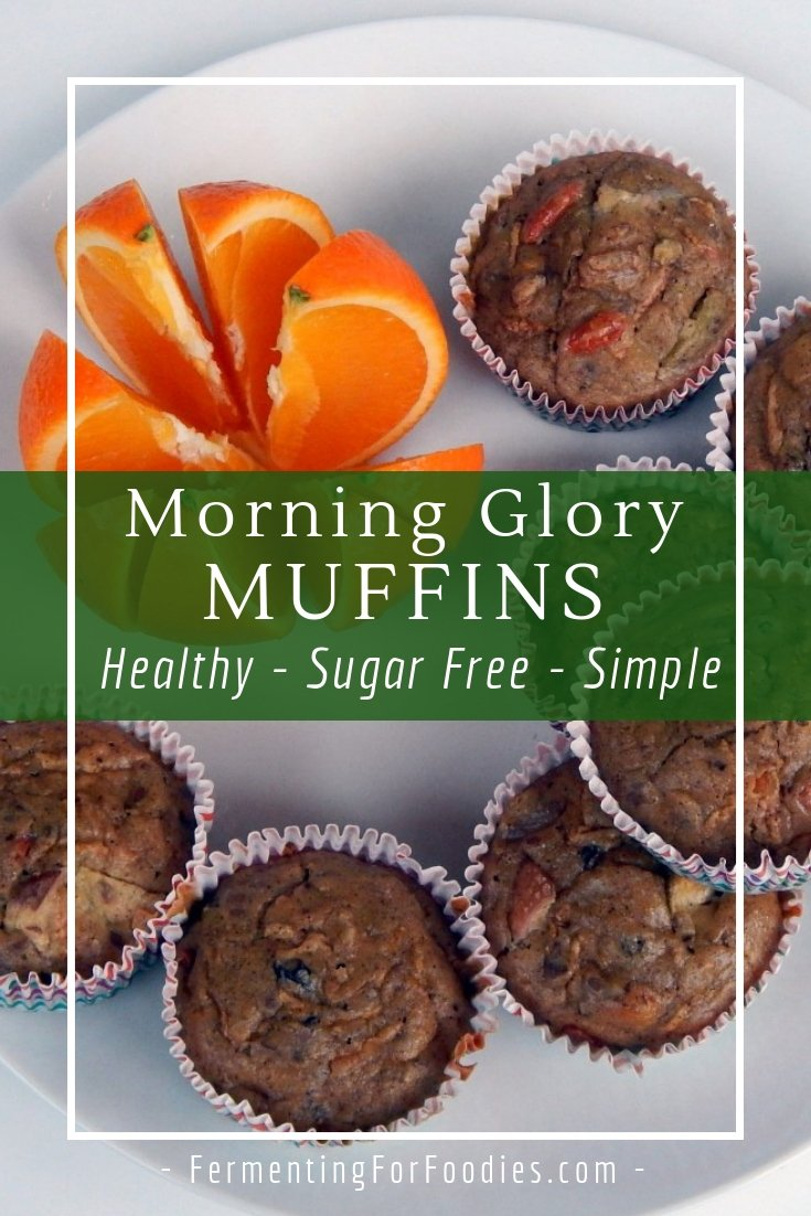 Gluten free morning glory muffins are packed full of nutrients