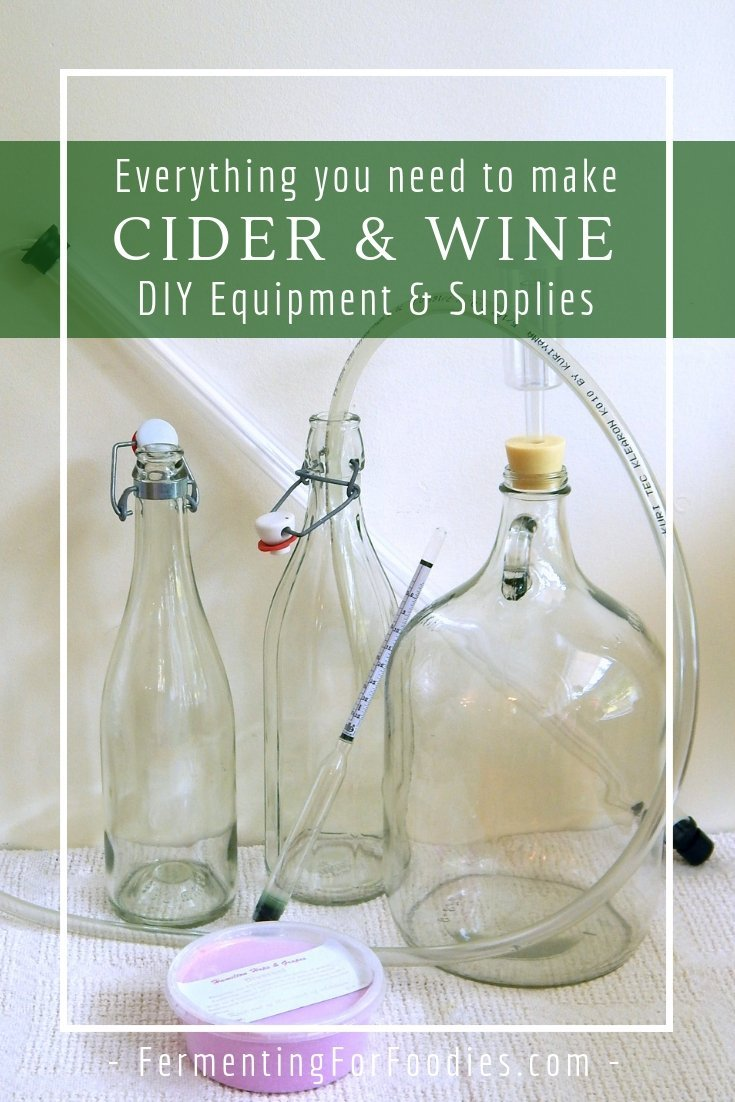Homemade wine equipment and supplies for success.