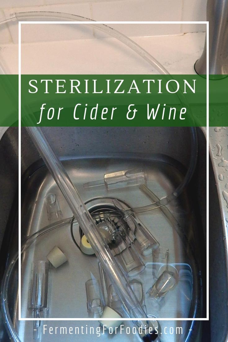 Cider and Wine Sanitation