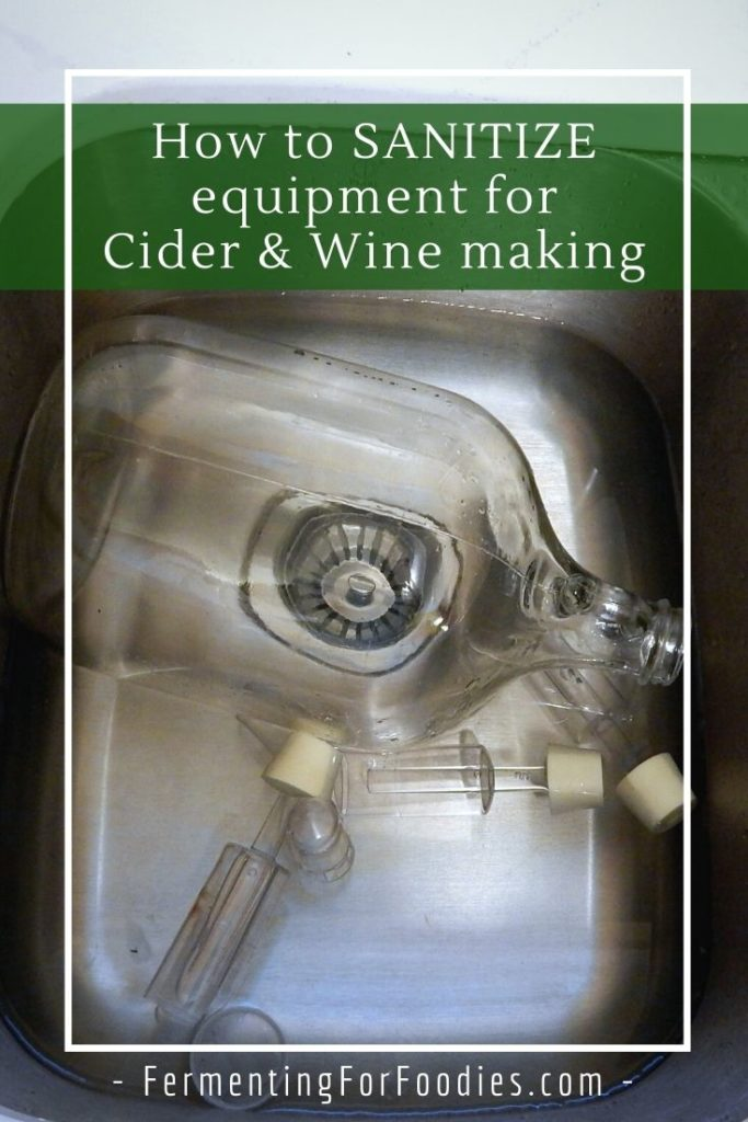 Everything you need to know about wine making sanitizer and equipment cleaning.