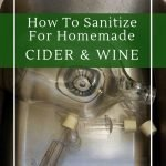 It's important to sanitize wine making equipment to ensure a successful ferment