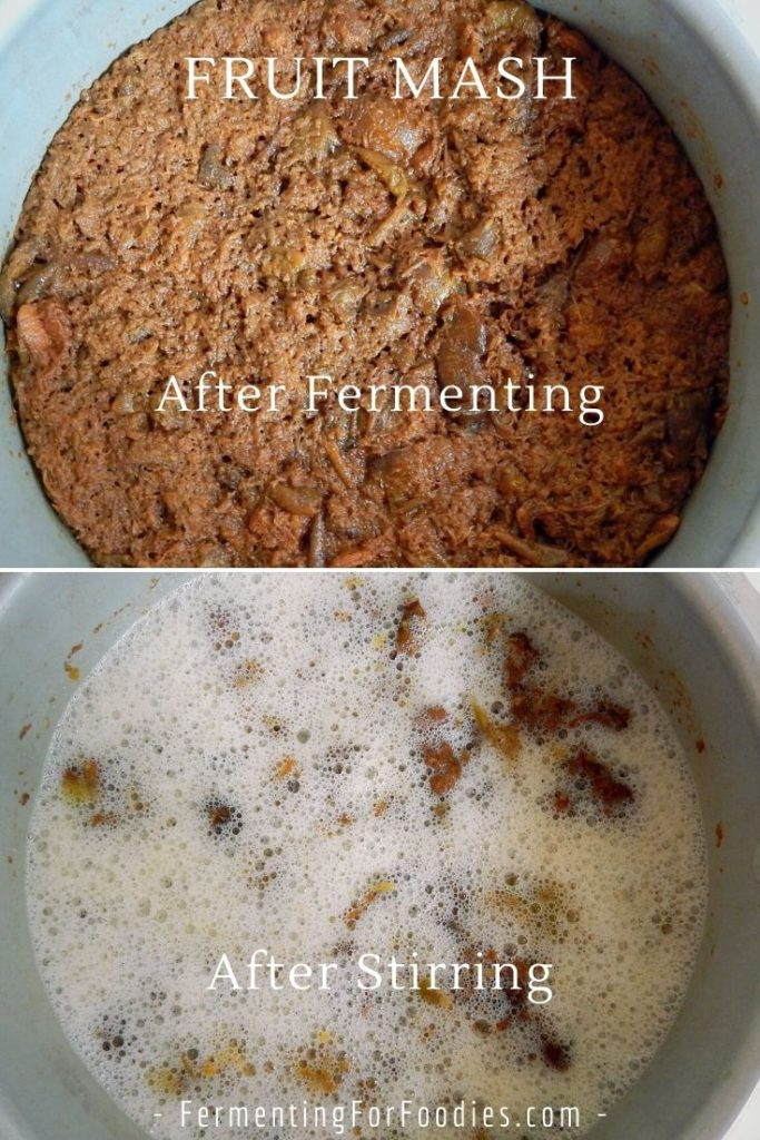 How to make wine and cider using mashed fruit.