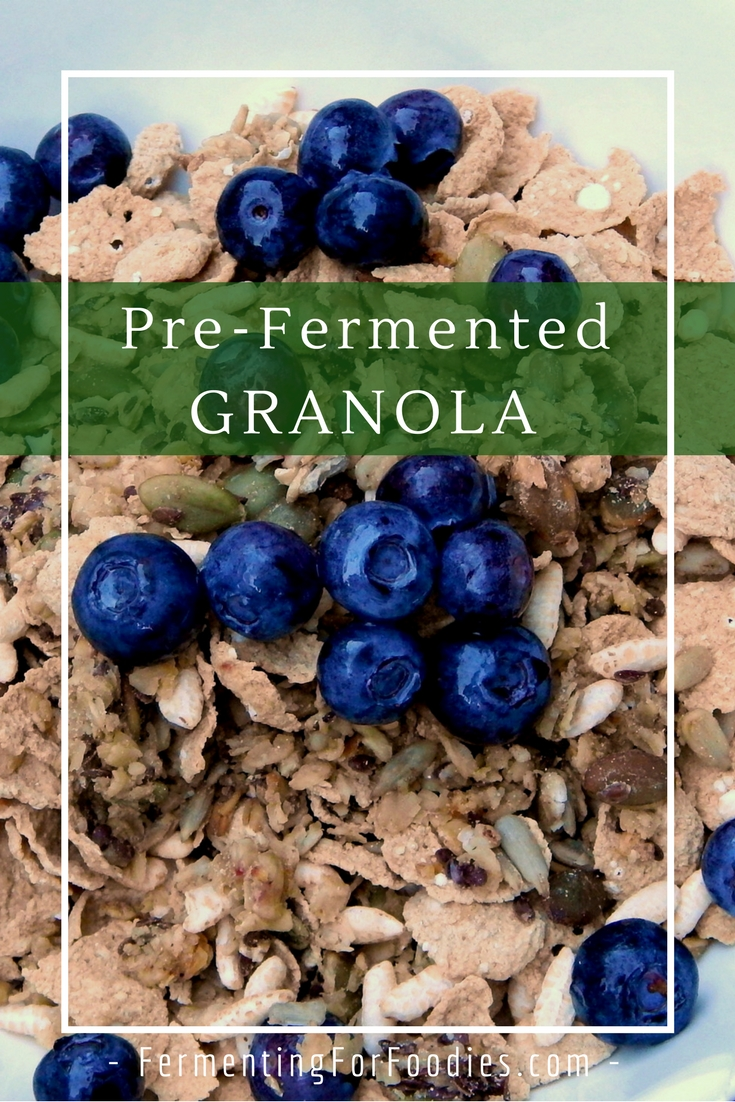 Soaked granola to improve digestibility and crunchy granola without the sugar