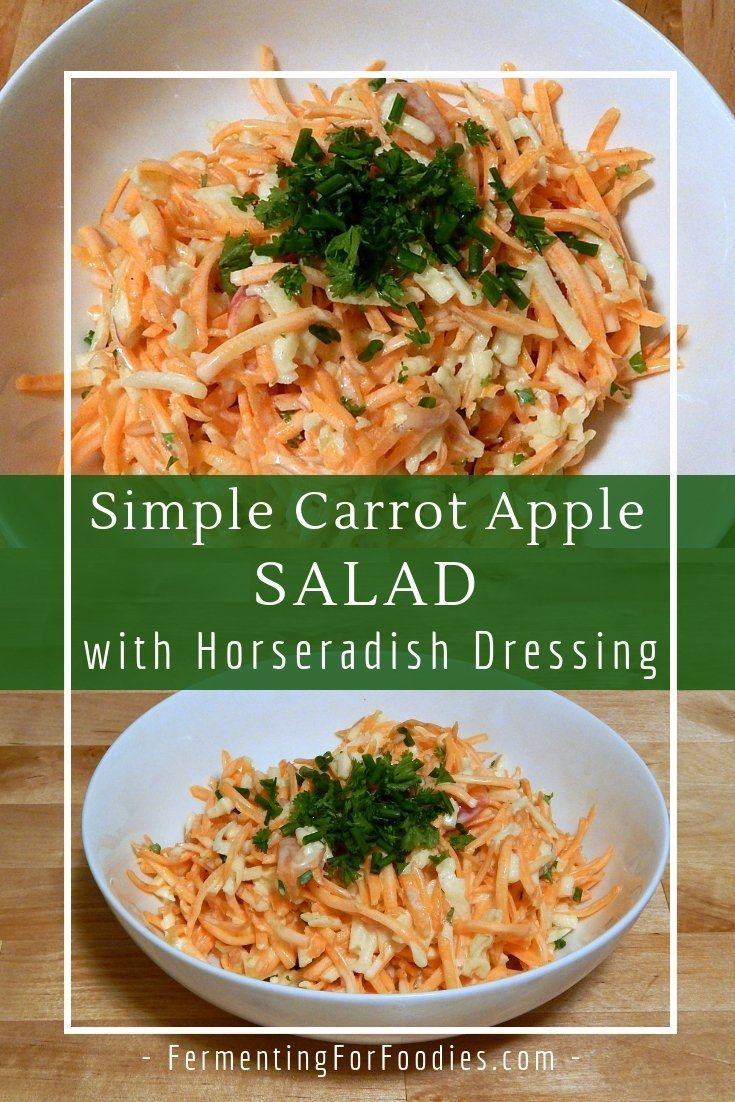 Carrot, apple and horseradish salad is a zippy and flavourful side dish.