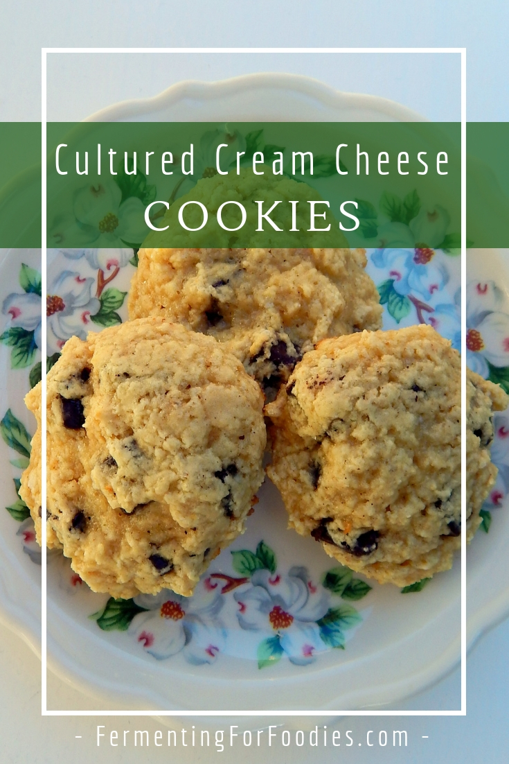 Cultured cream cheese and chocolate chip cookies