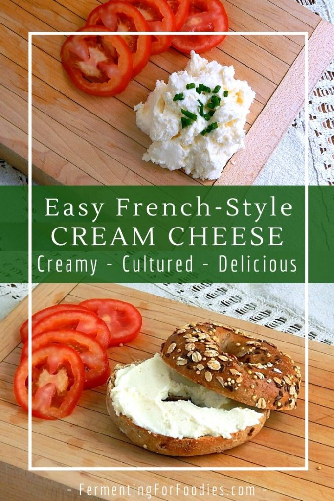 Flavourful, creamy and delicious homemade cream cheese - perfect for beginners