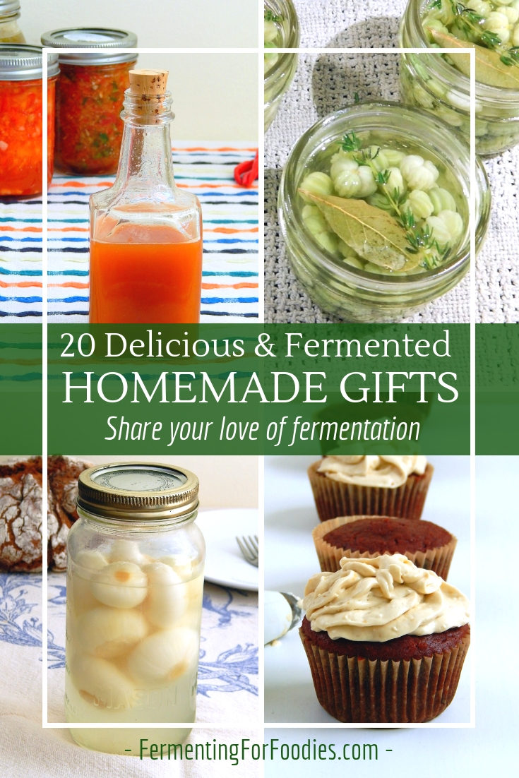 Homemade ferments make wonderful gifts for birthdays and Christmas. Share your love of fermentation.