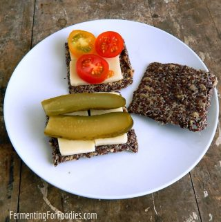 Grain free and delicious - fermented flax seed crackers