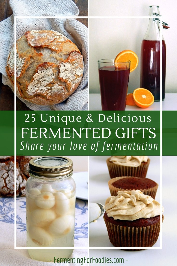 Homemade gifts are special, unique and thoughtful. Try making fermented gifts