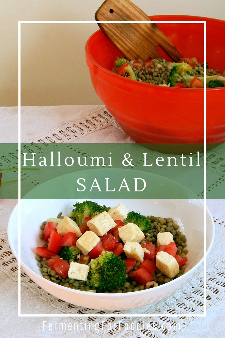 Easy and delicious halloumi salad - vegan and gluten free