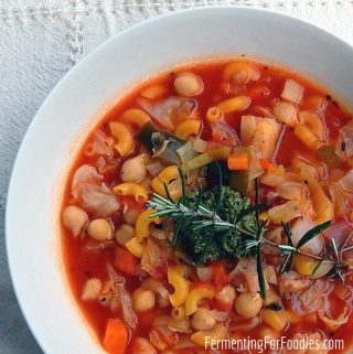 Traditional minestrone soup was made with leftover whey from making cheese