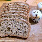 Slices of gluten free oat flour bread