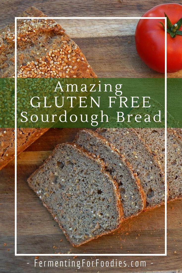 Gluten free sourdough bread with wholegrain flour and psyllium husk