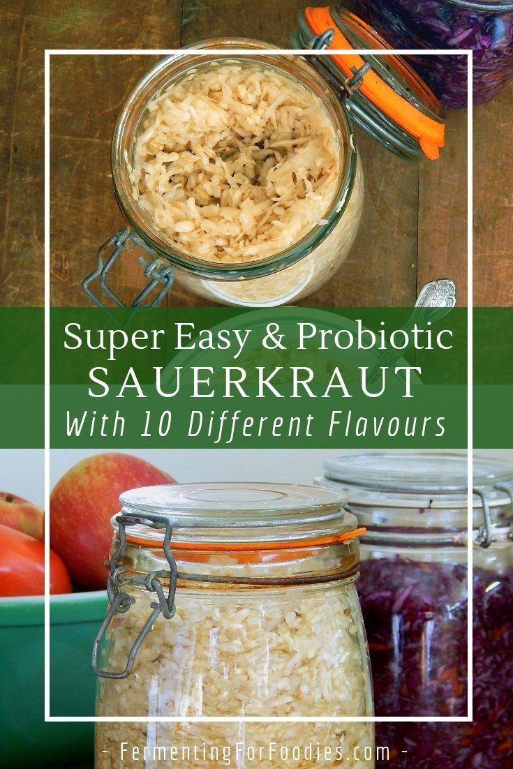 Probiotic fermented sauerkraut, easy, delicious and healthy