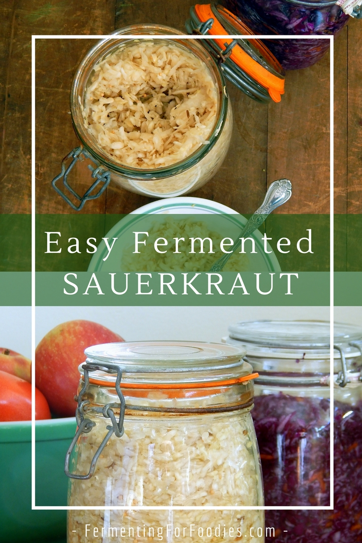 Different sauerkraut flavours, add in carrots, onions, spices, delicious!