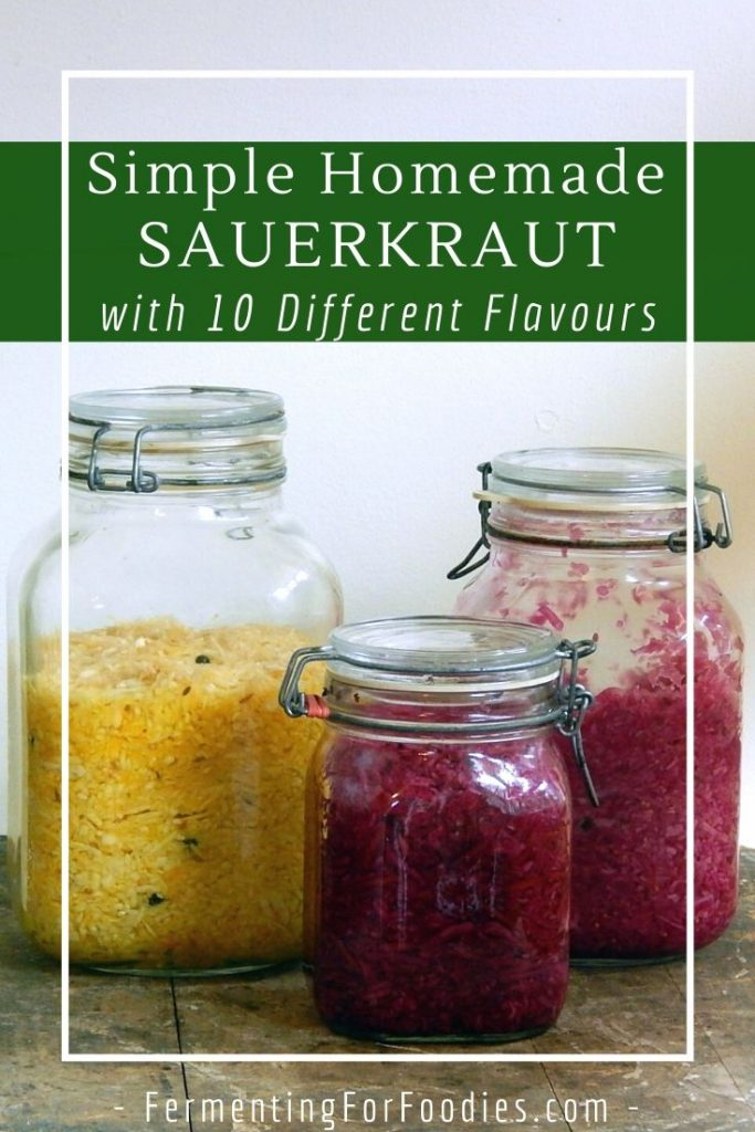 How to Make Fermented Sauerkraut - Simple, Easy and Probiotic