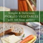 How to make fermented vegetable sticks for picnics, snacks, potlucks and bbq