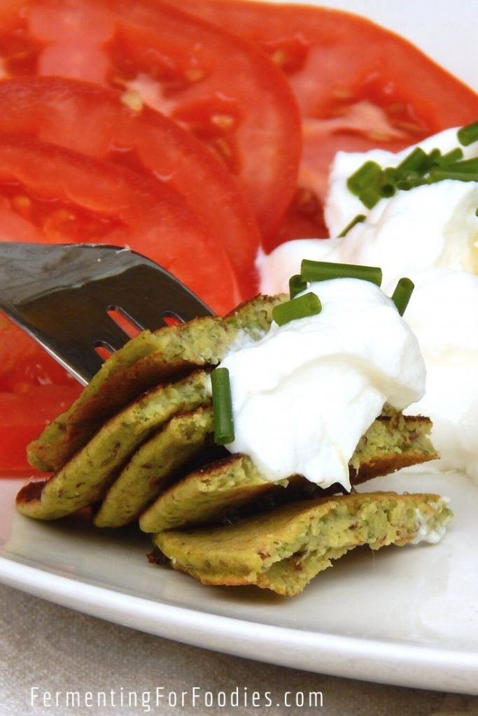 Protein packed savoury green pancakes