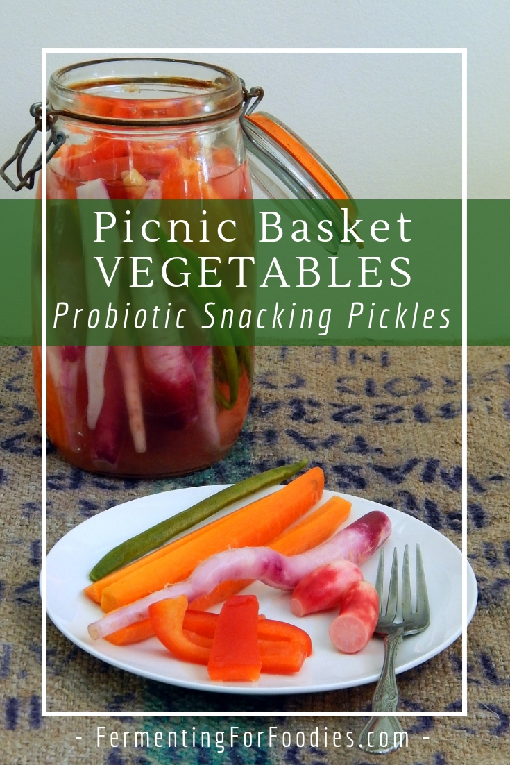 Fermented vegetable sticks - probiotic pickles