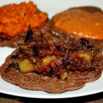 Ethiopian Injera, Shiro Wat and Cabbage Stew- Gluten Free, Vegan, Fermented