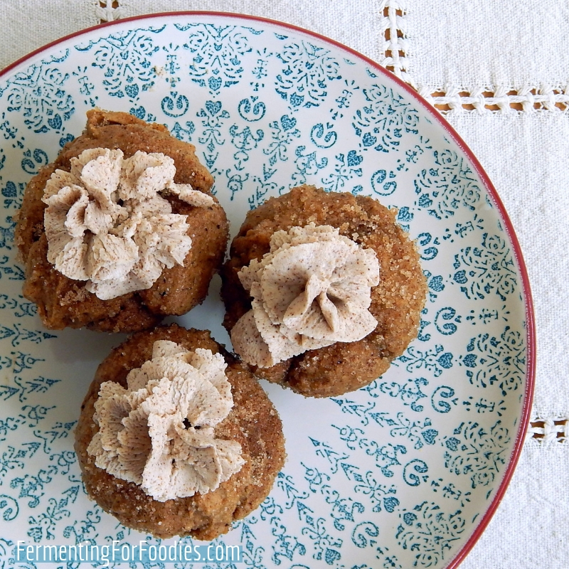 Gluten Free Churro Cupcakes with Cinnamon Cream Cheese Frosting