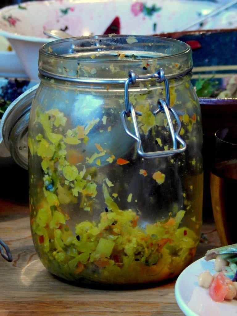 Fido jar of piccalilli