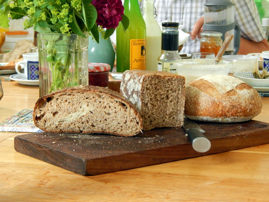 Three types of sourdough bread