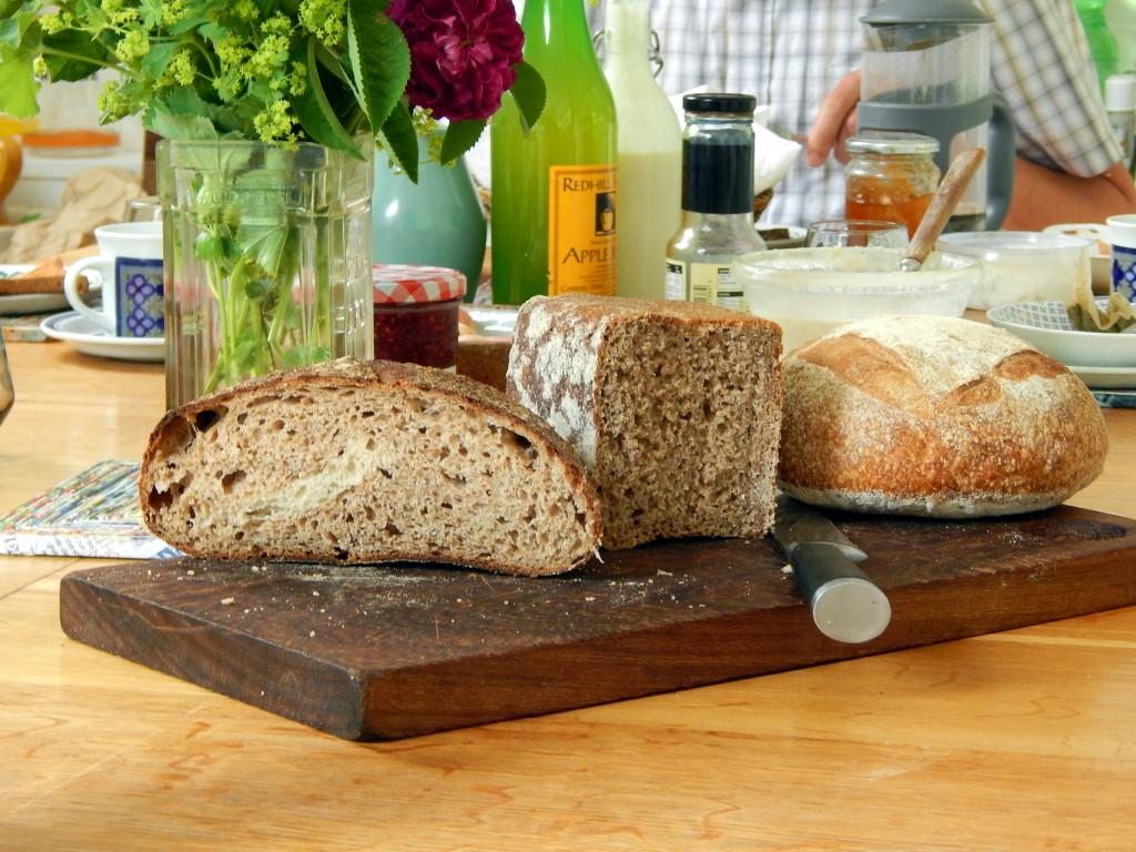 Three types of sourdough bread