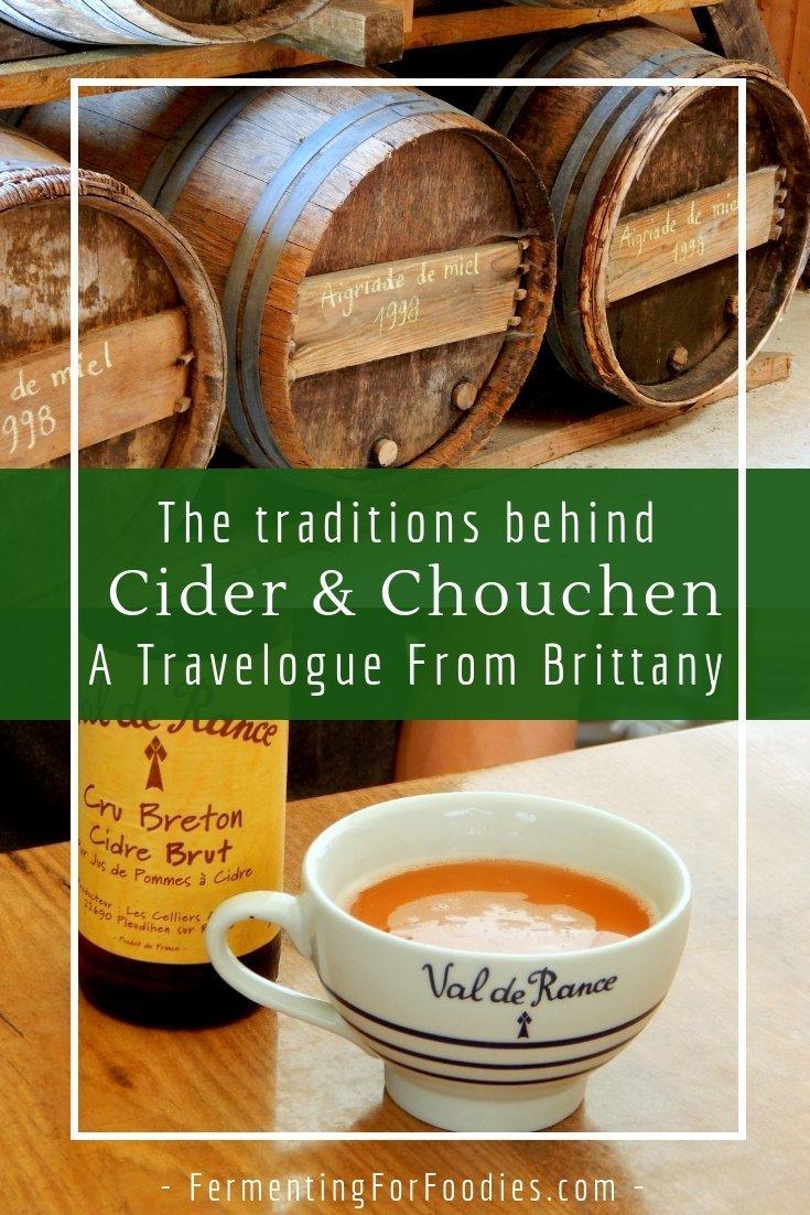 Drinking cider and chouchen in Brittany