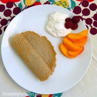 Traditional buckwheat crepes - gluten free and delicious