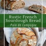 Rustic French sourdough bread with 5 different flavour combinations