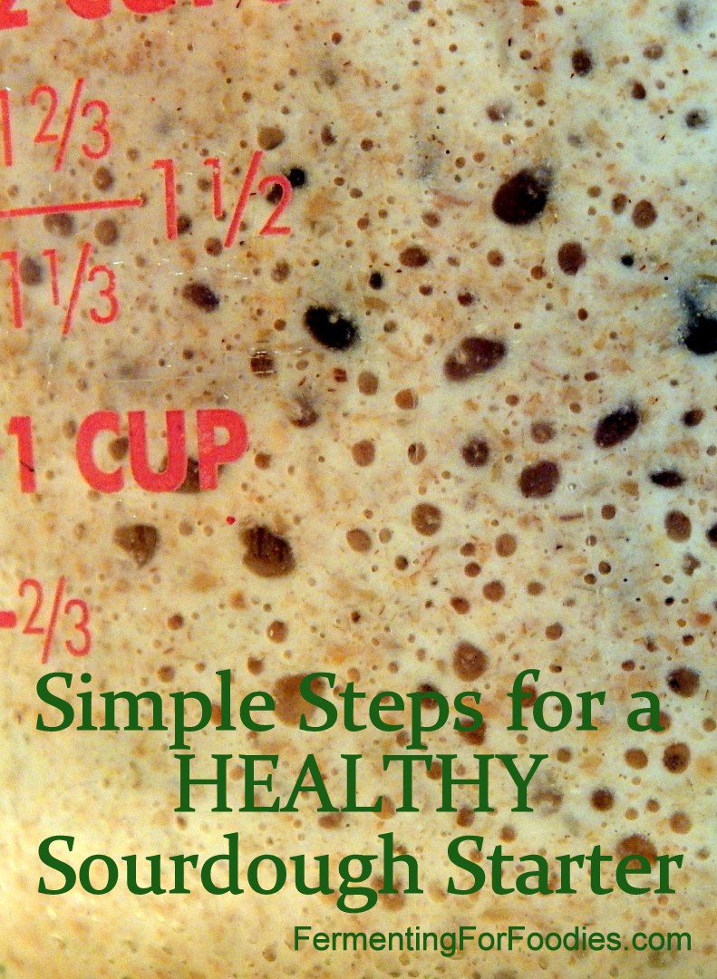 Simple steps for an active sourdough starter