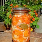 Fido jar of pickled carrots, cauliflower and peppers