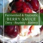 How to make a fermented berry sauce for a sugar free jam alternative