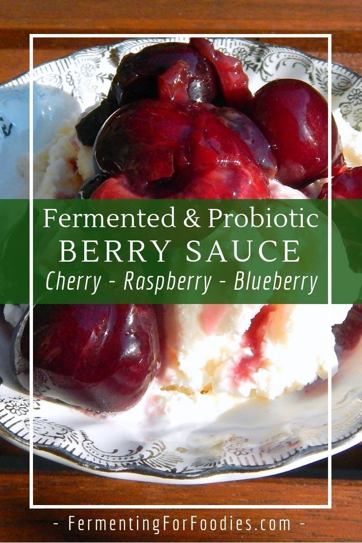How to make a fermented berry sauce for a sugar free jam alternative